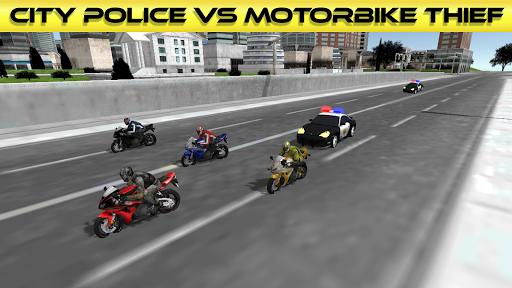 市警察対バイク泥棒