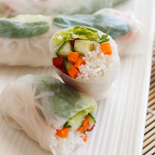 VEGETABLE PACKED RICE PAPER ROLLS