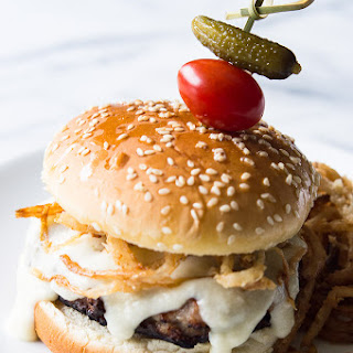 Crispy Fried Onion Swiss Burger