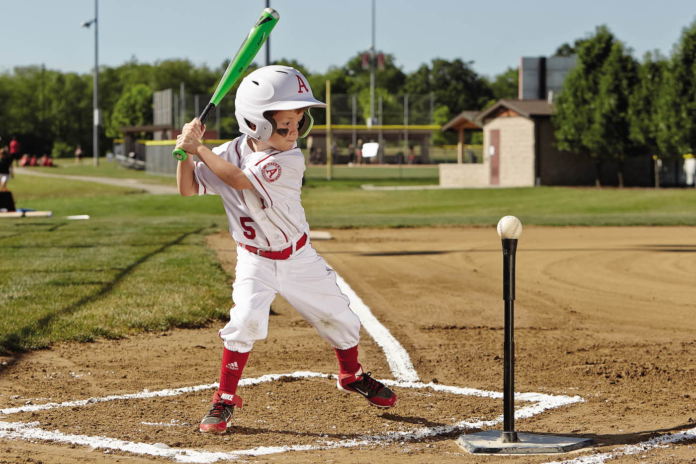 Batting tee drills for baseball