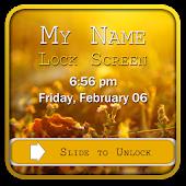 My Name Lock Screen