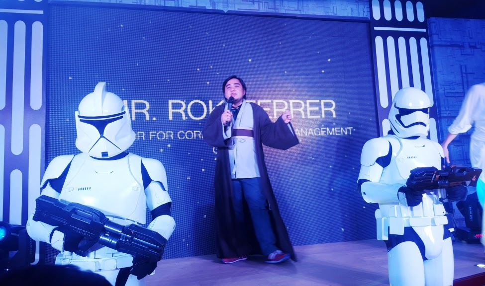 ROKI FERRER, DIRECTOR FOR CORPORATE AND MANAGEMENT, GLOBE CHANNELS HIS ROKI-WAN KENOBI CHARACTER