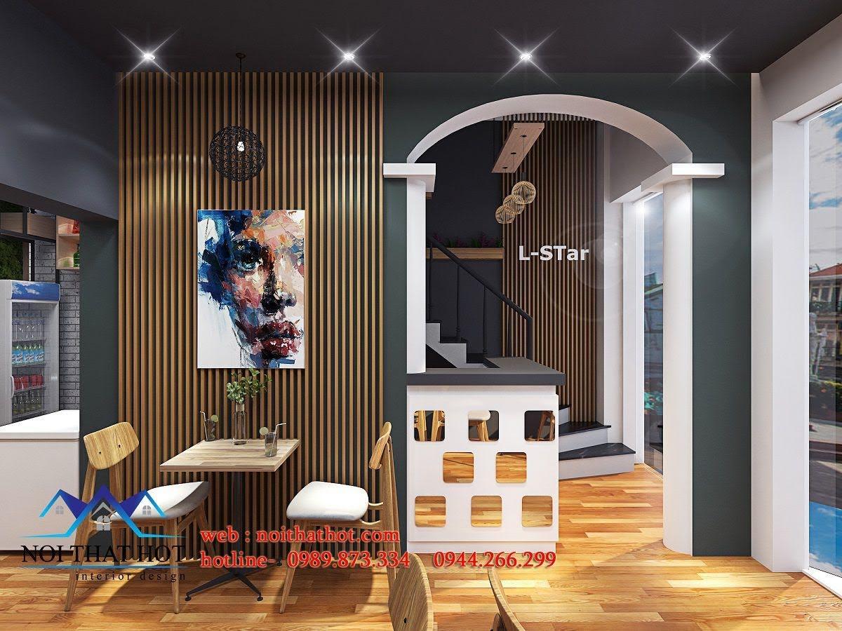 thiết kế quán cafe kết hợp shop thời trang 8
