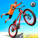 Rooftop BMX Bicycle Tracks 3D icon