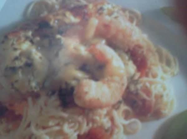 Shrimp In Angel Hair Pasta Casserole Recipe