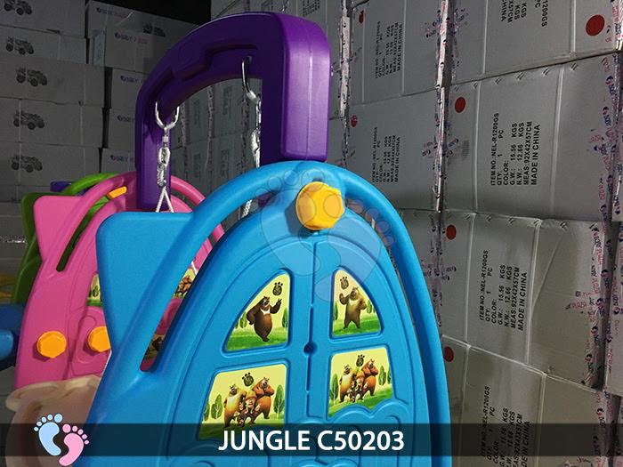Cầu trượt cho bé 3 in 1 Jungle C50203 4