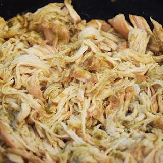 Crock Pot Salsa Verde Chicken.