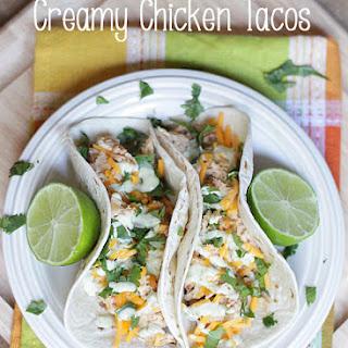 3 Ingredient Crock Pot Creamy Taco Chicken.