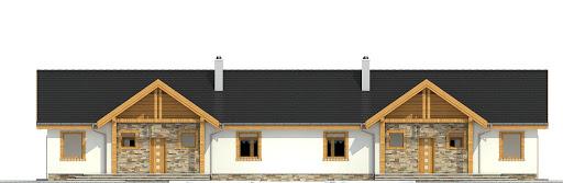 Modraszka bez garażu bliźniak B-BL1 - Elewacja przednia