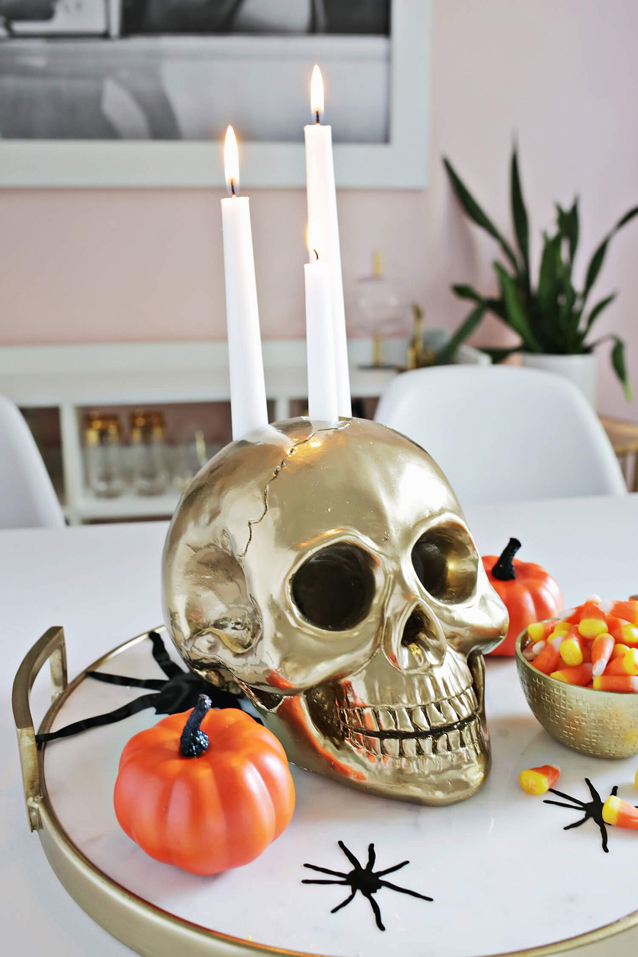 Halloween Decoration Ideas with Candle Holder