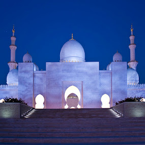 Sheikh Zayed Grand Mosque, Abu Dhabi, UAE by Viktoryia Vinnikava - Buildings & Architecture Other Exteriors ( exterior, mosque, uae, zayed, abu dhabi, architecture, dusk,  )