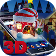 3D Merry Christmas Santa theme apk