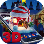 3D Merry Christmas Santa theme Icon