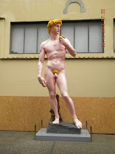 Photo: Colored David - Modern art (Taking picture of the original is not allowed)