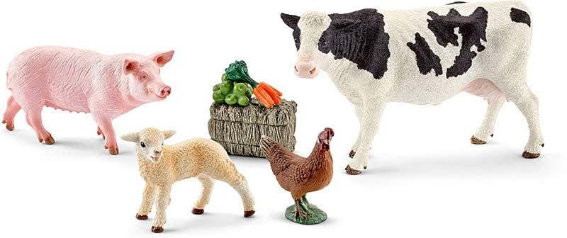 Contenido de Schleich® 41424 Set Primeros Animales de Granja