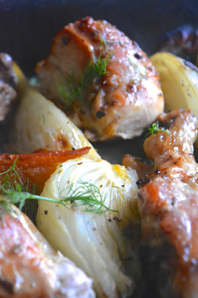 chicken fennel and preserved orange safranaargana kip met venkel en ingemaakte sinaasappel