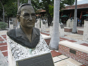 Photo: Harry Truman at The Key West sculpture garden at Mallory Square