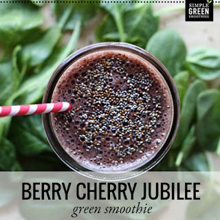 Berry Cherry Jubilee Green Smoothie Recipe