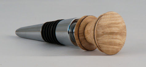 "Photo: Jake France - 1 1/2"" x 4"" bottlestopper [maple burl]"