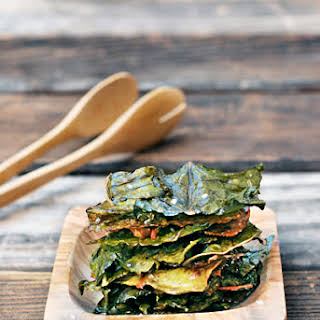 Spicy Swiss Chard Chips.