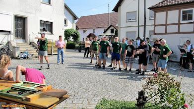 Photo: Grußworte von Georg Ernst von den Staffelbacher Nadelhebern.