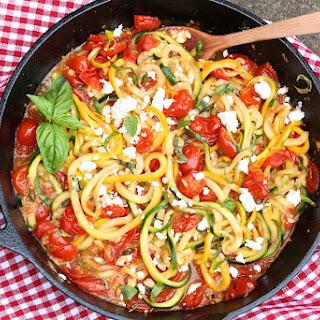 Zucchini Noodles in Rustic Tomato Sauce.