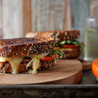 Persimmon Prosciutto and  Brie Grilled Cheese.