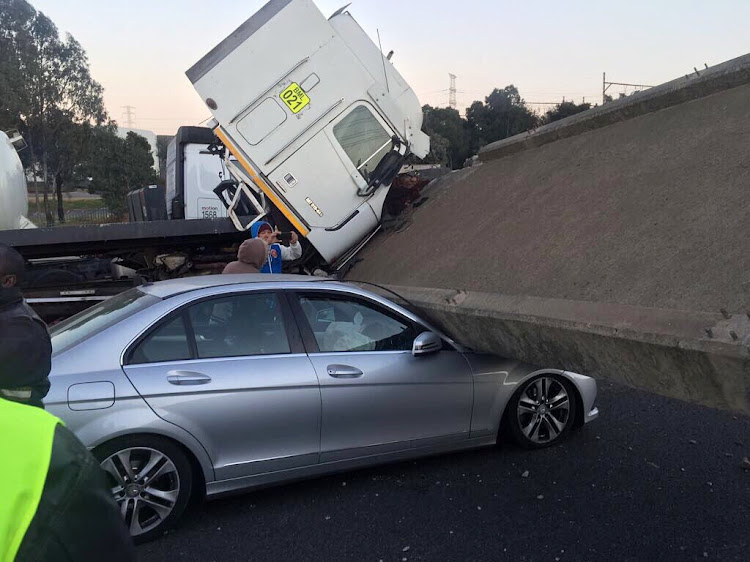 Five people were injured when a bridge collapse on the N3 in Germiston.