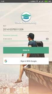 UMM Scholarship - náhled