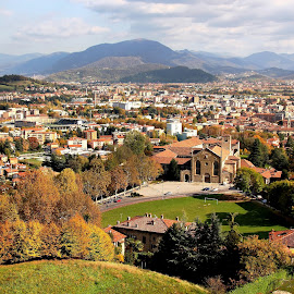 Bergamo by Francis Xavier Camilleri - City,  Street & Park  Vistas