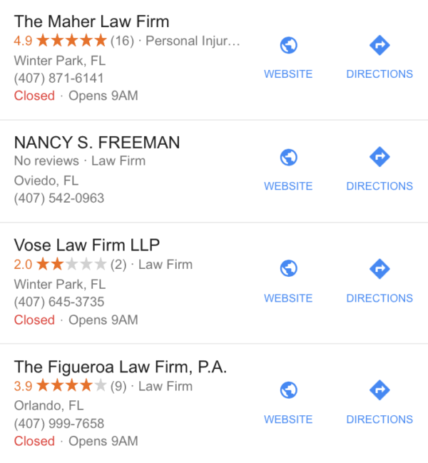Law firm review