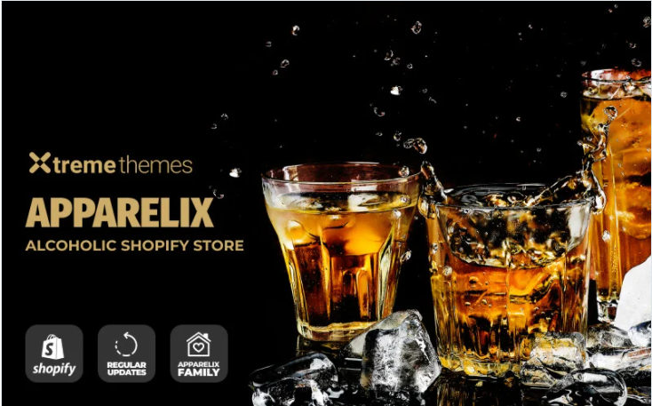 Apparelix - Drink and beverage shopify theme