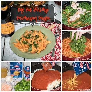 One Pot Shrimp Parmesan Pasta