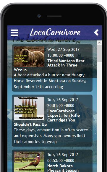 The LocaCarnivore Hunting Magazine App- screenshot
