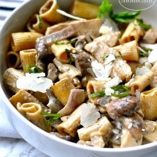 Creamy Chicken Marsala Mushroom Pasta