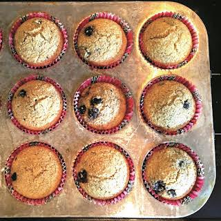 Oat Bran Blueberry Muffins.