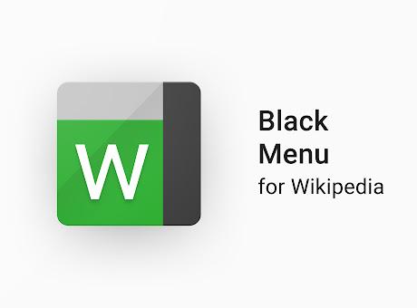 Black Menu for Wikipedia