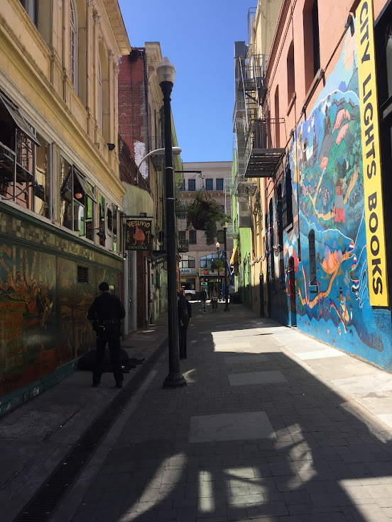 Jack Kerouac Alley - San Francisco by Sherri Caldwell
