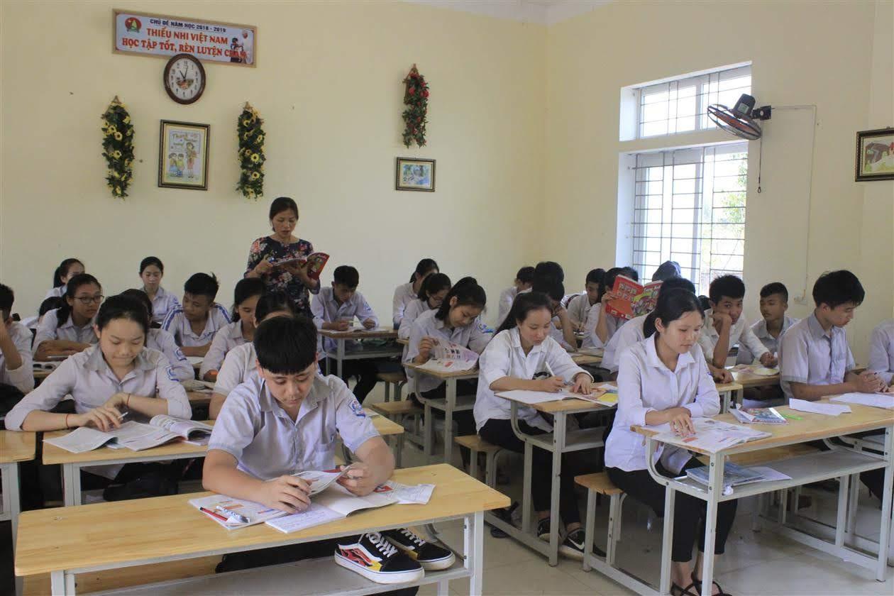 Một tiết học ở Trường THCS Nghi Đức, TP Vinh