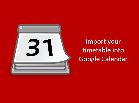UoL Timetable to Google Calendar