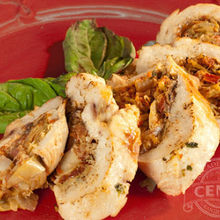 Sun Dried Tomato & Artichoke Stuffed Chicken