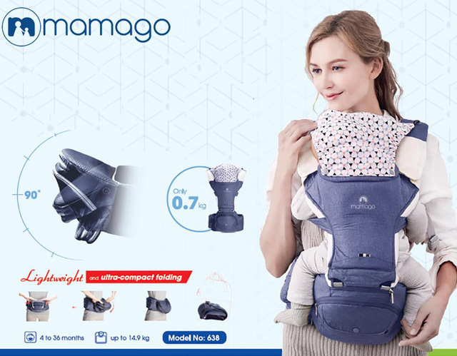 Địu trẻ em Mamago: Mẹ thoải mái, Bé an toàn - Ảnh 1.