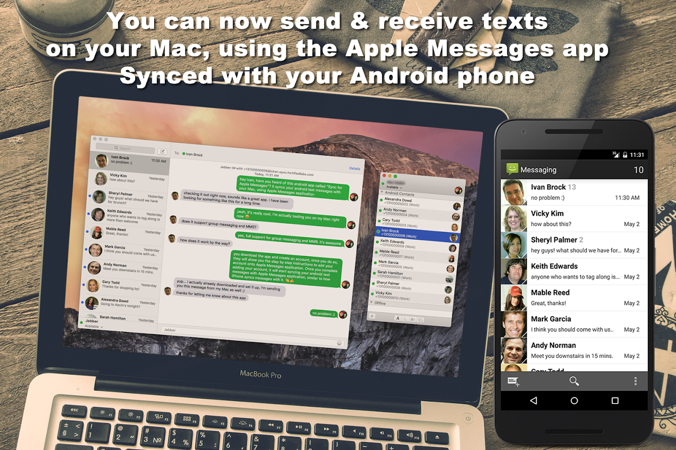 SMS for iChat (iMessage app)- screenshot