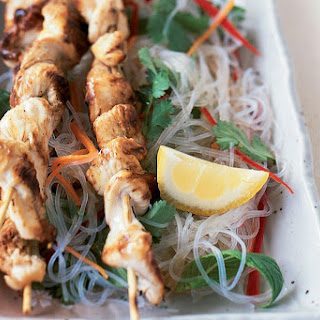 Chicken Skewers with Vietnamese Noodle Salad Recipe