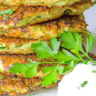 Ketogenic Zucchini and Parmesan Fritters.