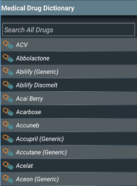 Medical Drug Dictionary- screenshot