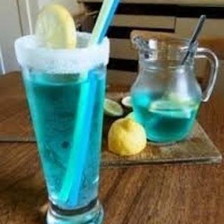 Blue Lagoon Mocktail.
