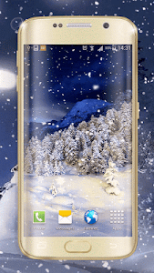 Winter Night Live Wallpaper screenshot 0