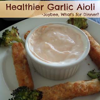 Healthier Garlic Aioli.