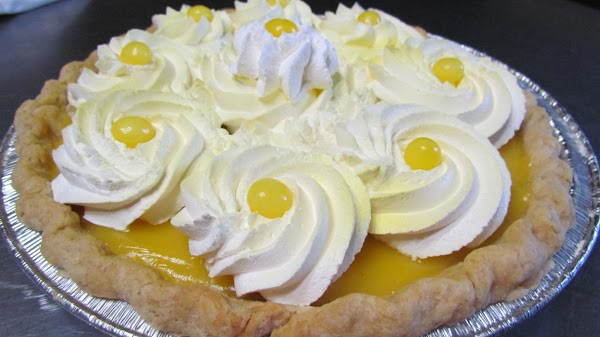 Or just a lemon pie :) On this one I put on whipped cream...YUMMY!